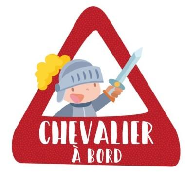 Chevalier à bord - Adhésif pour voiture