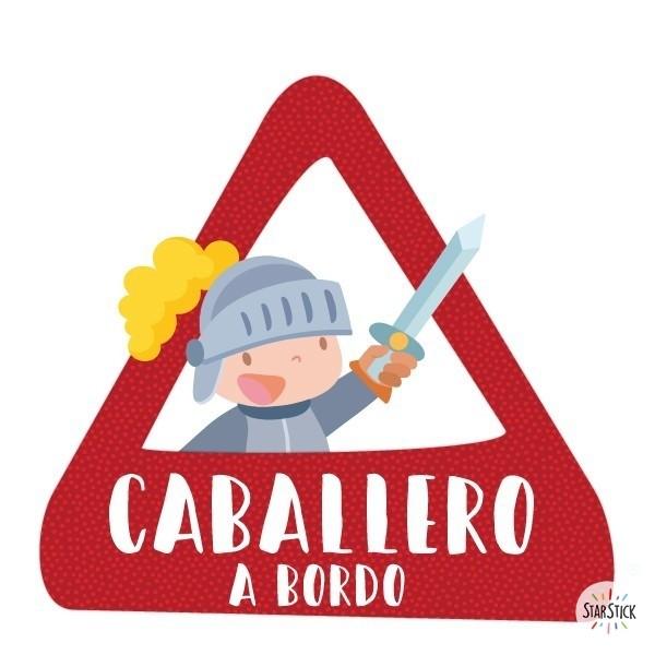 Caballero a bordo –  Bebé a bordo triángulo para coche