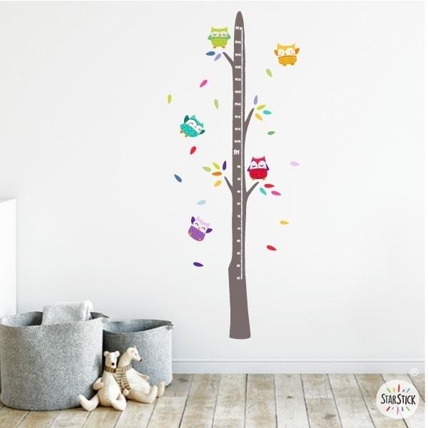Hiboux sur l'arbre - Sticker toise