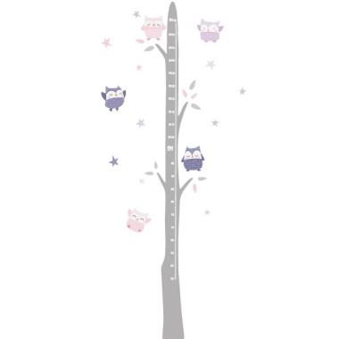 Sticker toise - Hiboux Lavanda Toises Dimensions approximatives (largeur x hauteur) Taille du montage: 50x135 cm Taille de la feuille: 20x60 cm Taille approximative des hiboux: Entre 9 et 10 cm Comprend 16 étiquettes pour marquer ce que vous voulez! vinilos infantiles y bebé Starstick