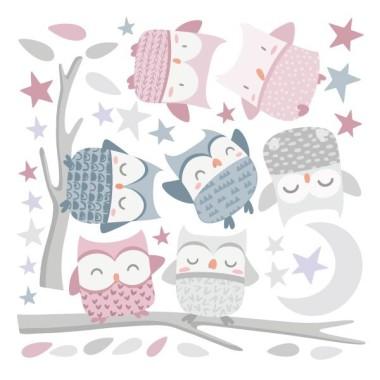 Vinilo bebé y niñas - Búhos rosa palo - Vinilos infantiles bebé Vinilos infantiles Niña Vinilos para niñas y bebés con fantásticos búhos en tonos rosa. Un precioso vinilo infantil de pared con el que podrás decorar habitaciones infantiles con mucho encanto. Medidas aproximadas del vinilo montado (ancho x alto) Básico:70x40cm Pequeño:110x60 cm Mediano:150x70 cm Grande:200x100 cm Gigante:250x125 cm  AÑADE UN NOMBRE AL VINILO DESDE 9,99€ vinilos infantiles y bebé Starstick
