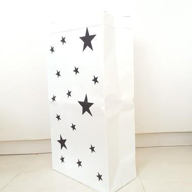 Saco organizador de papel - Estrellas negras. PEQUEÑO