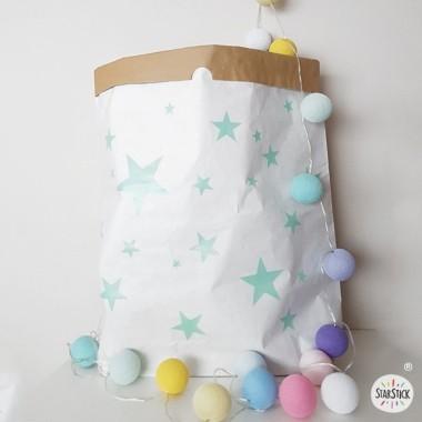 Paperbag - Étoiles colorées. Sac en papier