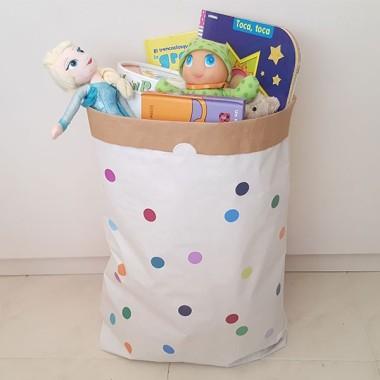 Paperbag - Confettis colorés - Sac en papier
