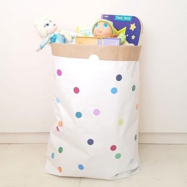 Saco organizador de papel - Confeti de colores