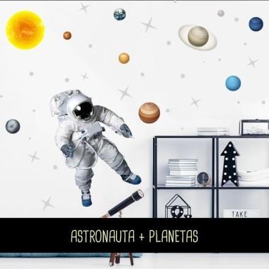 Astronauta realista – Vinilo infantil fluorescente Vinilos infantiles Niño Vinilo con un gran cosmonauta realista y estrellas de diferentes tamaños que encantará a tus niños. Medidas aproximadas del vinilo montado (ancho x alto) Básico: 95x70 cm Pequeño: 125x85 cm Mediano: 165x110 cm Grande:220x140 cm Gigante: 285x175 cm AÑADE UN NOMBRE AL VINILO DESDE 9,99€   vinilos infantiles y bebé Starstick