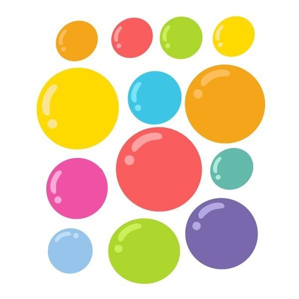 Extra Pack - Burbujas de colores niños buceadores Extra Packs Extrapack con 10 burbujas. Cada burbuja mide entre 3 y 8 cm de ancho Tamaño de la lámina: 25x25 cm vinilos infantiles y bebé Starstick