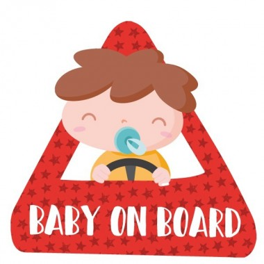 """Bébé à bord - Adhésif pour voiture Bébé à bord Adhésif pour voiture """"Bébé à bord"""" Dimensions: 16x15 cm Matériau:Sticker autocollantpelliculage vinilos infantiles y bebé Starstick"""