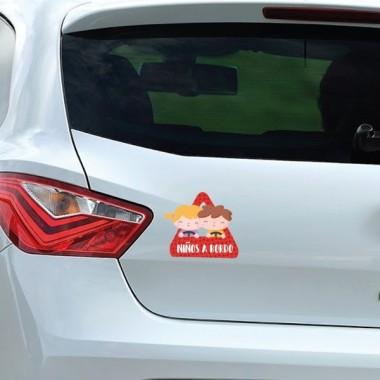 """Enfants à bord - Adhésif pour voiture Stickers bébé à bord Adhésif pour voiture """"Enfants à bord"""" Dimensions: 16x15 cm Matériau:Sticker autocollantpelliculage vinilos infantiles y bebé Starstick"""