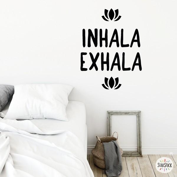 Inhala Exhala - Vinilos decorativos citas y frases célebres