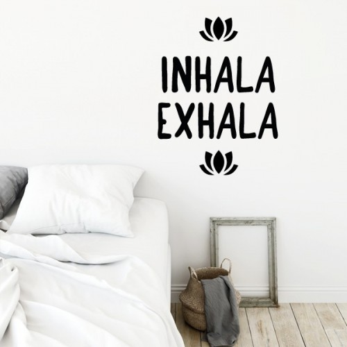 Inhala Exhala - Stickers décoratifs phrases et citations