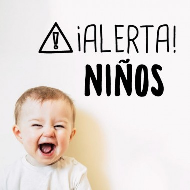 ¡Alerta! Niños - Stickers décoratifs phrases et citations