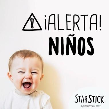 ¡Alerta! Niños - Vinilos decorativos de pared