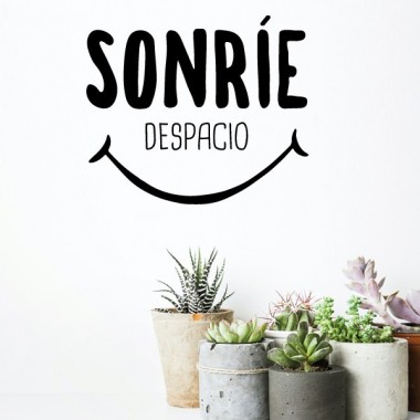 Sonríe despacio - Stickers décoratifs phrases et citations