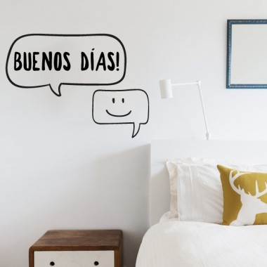 Buenos días - Stickers décoratifs phrases et citations