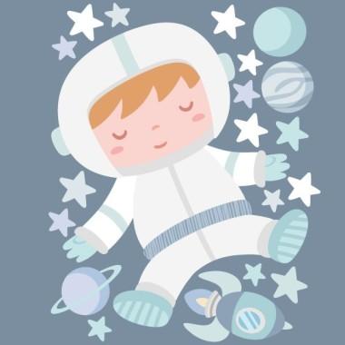 Astronauta baby. Turquesa - Vinilo decorativo para bebés Vinilos Infantiles Vinilo infantil para decorar de manera muy dulce y original las habitaciones de bebé. El mural incluye un astronauta y todos los elementos que lo rodean. Ideal para llenar y dar color a cualquier pared. Medidas aproximadas del vinilo montado (ancho x alto) Básico: 70x45cm Pequeño: 110x55 cm Mediano:120x80 cm Grande: 185x110 cm Gigante: 300x175 cm   AÑADE UN NOMBRE AL VINILO DESDE 9,99€ vinilos infantiles y bebé Starstick