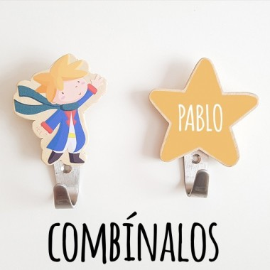 Patères enfants - Étoile Patères Taille de l'étoile: 10x10cmMatériel: Silhouette en bois de bouleau et crochet en acier vinilos infantiles y bebé Starstick