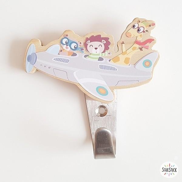 Penjador infantil - Avió amb animals