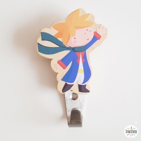 Patères enfants - Petit prince Patères Taille du petit prince: 9.5x8 cmMatériel: Silhouette de bois de bouleau et crochet en acier vinilos infantiles y bebé Starstick