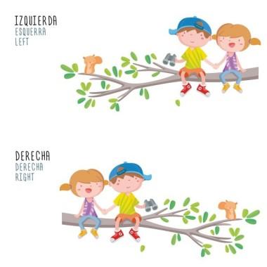 Vinyle pour enfants - Enfants sur la branche d'arbre Stickers enfants Mesures approximatives du vinyle monté (largeur x hauteur) Basique: 60x40 cm Petit: 85x60 cm  Moyen:110x85 cm  Grand: 150x100 cm Géant:210x150 cm  AJOUTE UN NOM POUR LE VINYLE À PARTIR DE 9,99€   vinilos infantiles y bebé Starstick