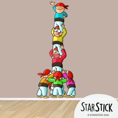 Castellers - Vinilo infantil