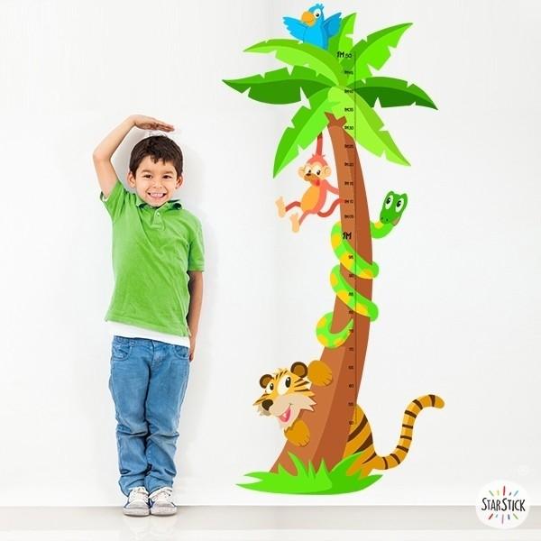 Vinil infantil decoratiu mesurador selva