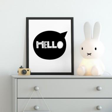 Toiles déco enfant - Hello