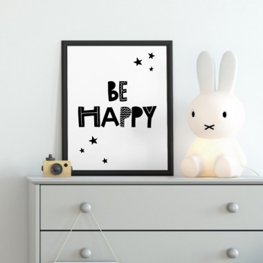 Lámina decorativa - Be happy - Estrellas