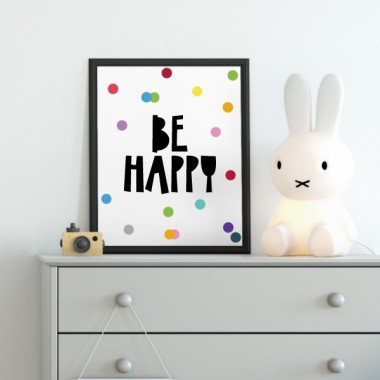 Toiles déco enfant - Be happy - Dots