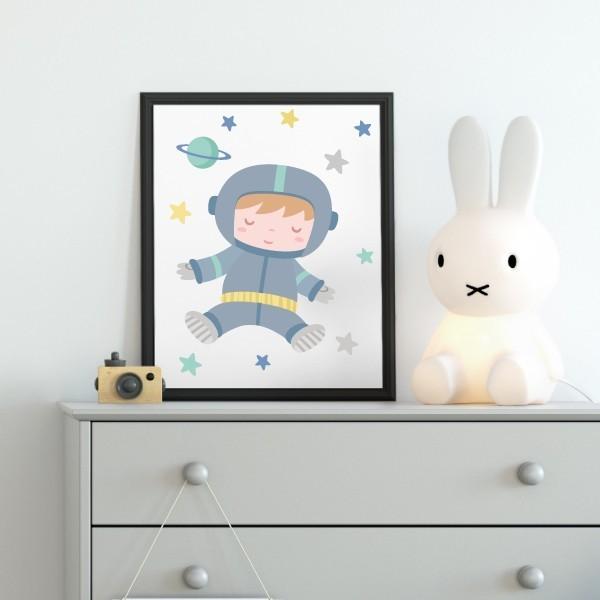 Làmina decorativa - Astronauta baby