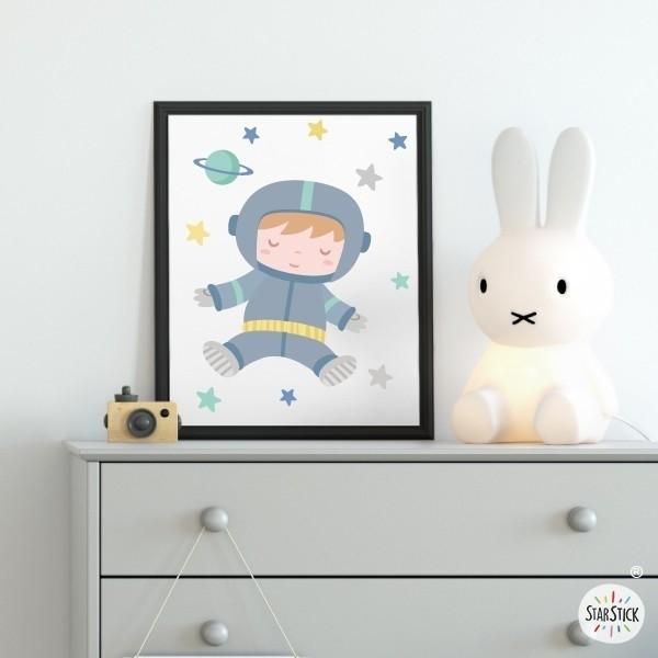 Toiles déco enfant - Astronaute de bébé