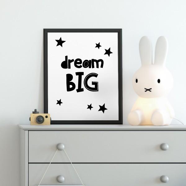 Toiles déco enfant - Dream big
