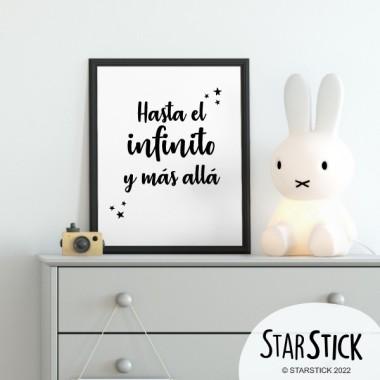Lámina decorativa infantil - Hasta el infinito y más allá