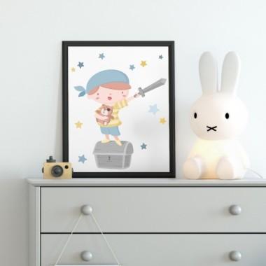 Làmina decorativa - Súper nen pirata