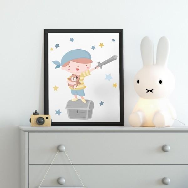 Lámina decorativa - Súper niño pirata