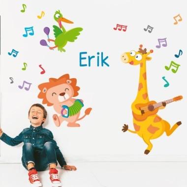 Unos músicos muy animales - Vinilos infantiles decorativos