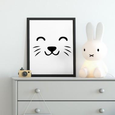 Toiles déco enfant - Masque de chat
