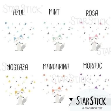 Lámina decorativa - Zorro estilo nórdico