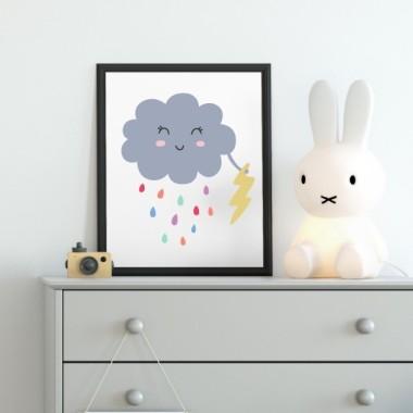 Toiles déco enfant - Le nuage et la foudre