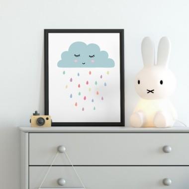Toiles déco enfant - Pluie de couleurs
