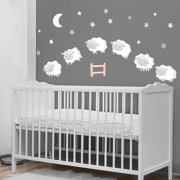 Ovelles nadó - Estrelles de colors - Vinils infantils