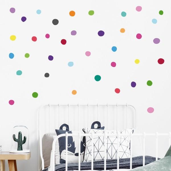 Confeti irregular de colores - Vinilo decorativo con topos