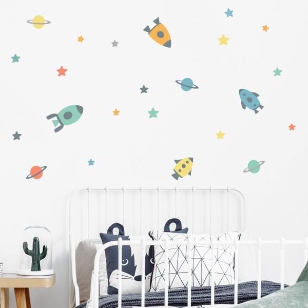 Vinil infantil - Petits coets a l'espai - Vinils decoratius