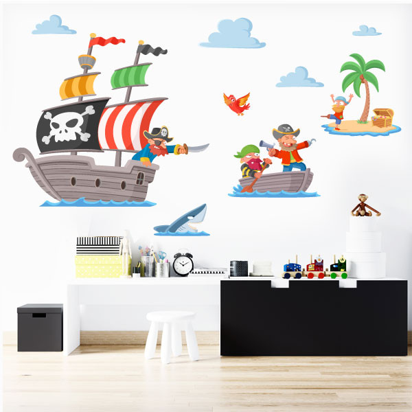 Pirates du Trésor - Sticker muraux chambre bébé