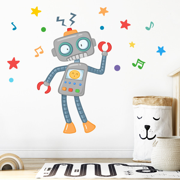 Robot - Vinilo infantil para niños y niñas