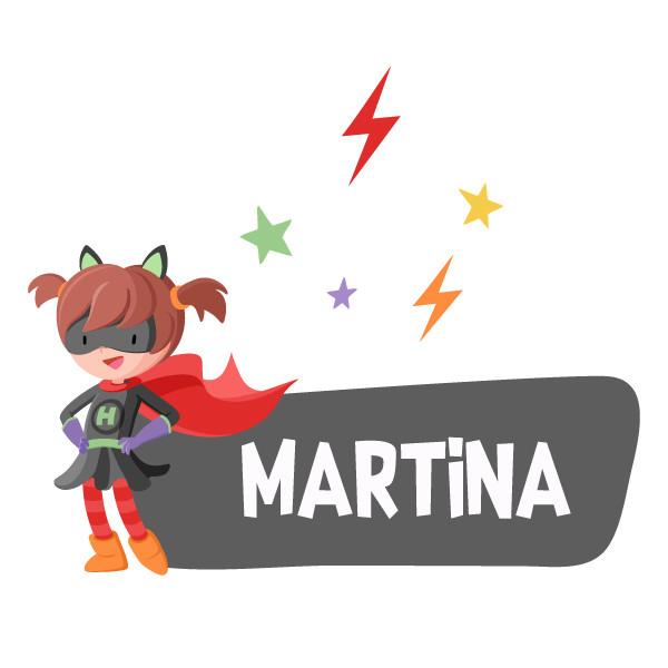 Superheroína - Nombre para puertas. Vinilo infantil