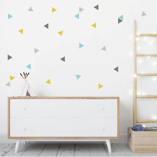 Triangles de combinaison élégants - Stickers muraux