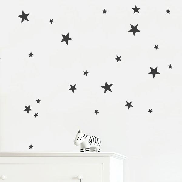 25 Estrellas de vinilo. Color a elegir - Vinilos decorativos con estrellas