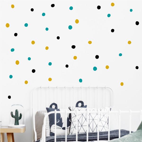 Confeti irregular. 3 Colores a elegir - Vinilo decorativo con topos