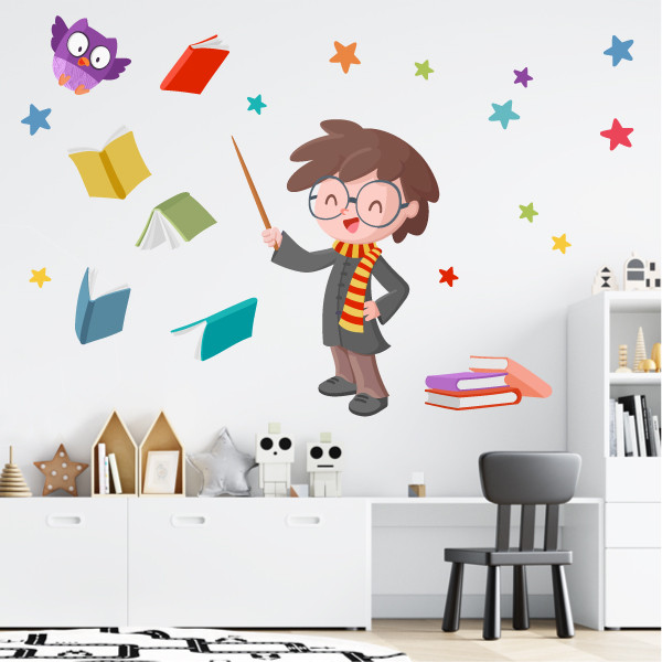 El mago Harry - Vinilos infantiles para niños y niñas
